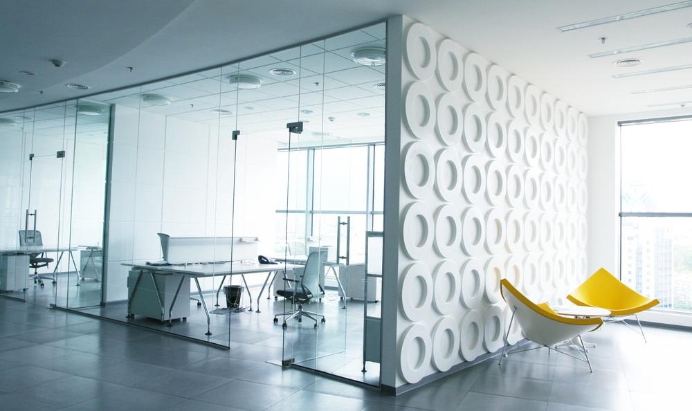 Minimalist modern office interior design,