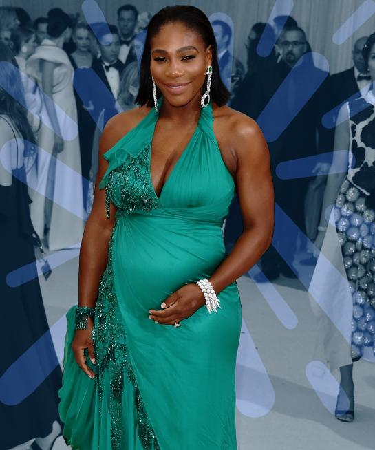 Serena Williams shows off Pregnancy bump – Photos